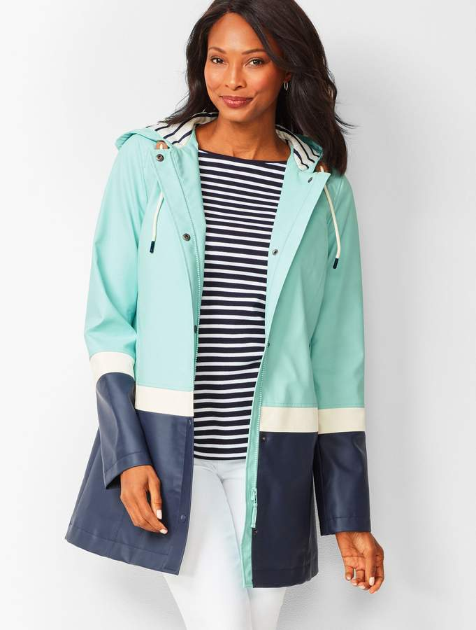 Colorblock Hooded Raincoat