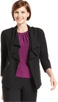 Calvin Klein Jacket, Cascade-Collar Open-Front Blazer