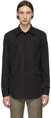 Maison Margiela Black Poplin Slim-Fit Shirt