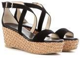 Jimmy Choo Portia 70 suede wedge sandals