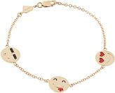 Alison Lou Enamel & yellow-gold I'm a Flirt bracelet