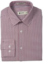 Haggar Men's Bold Stripe Point Collar Regular-Fit Long-Sleeve Dress Shirt