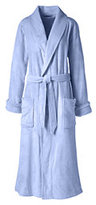 Classic Women's Plush Fleece Robe-Soft Sky Blue
