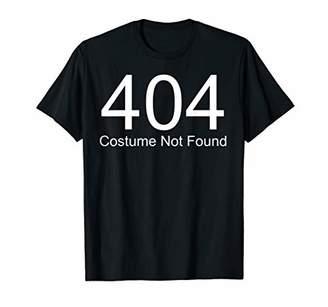 Easy Costume Not Found Computer Geek Nerd Halloween Costume T-Shirt
