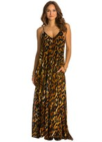 Indah Penda Printed Lined Maxi Dress w/ Pockets 8132253