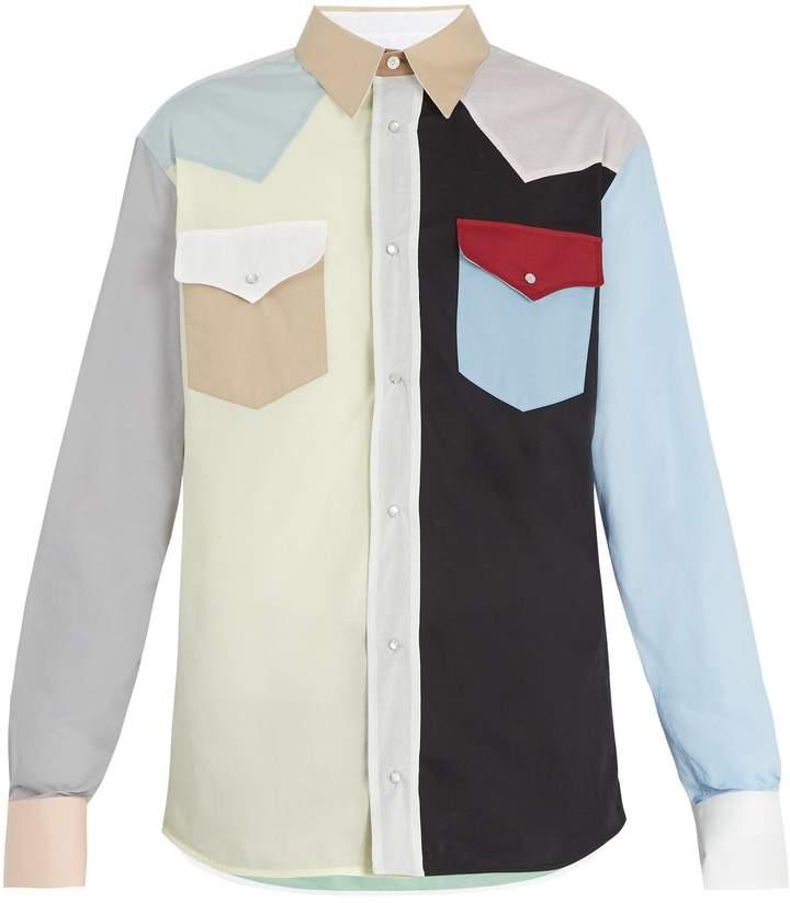Calvin Klein Western block-colour cotton shirt