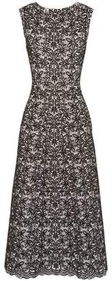 Alaia Wool-blend Jacquard Midi Dress