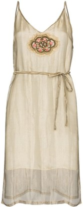 One Vintage organza slip mini dress