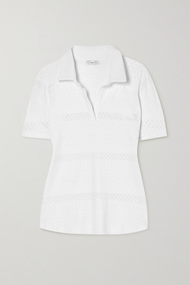 L'Etoile Sport - Pointelle-trimmed Stretch-jersey Polo Shirt - White