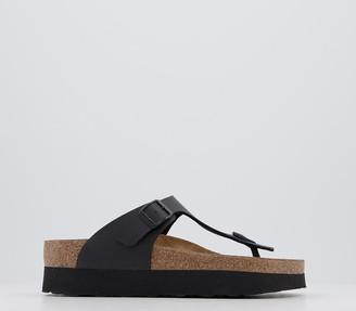 Birkenstock Papillio Gizeh Platform Sandals Black