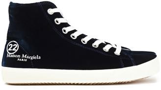 Maison Margiela Tabi Split-toe Printed Velvet High-top Sneakers