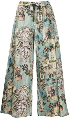 F.R.S For Restless Sleepers Silk Printed Trousers