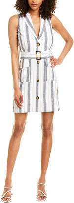 Laundry by Shelli Segal Linen-Blend Trench Dress