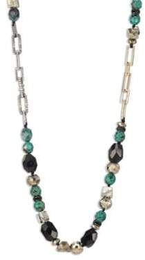 Alexis Bittar Crystal-Encrusted Mixed Stone Necklace