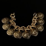 Sand-dollar charm bracelet