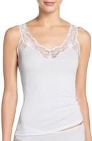 Hanro Women's Valencia Ribbed Lace Camisole