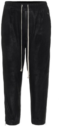 Rick Owens Cropped leather trackpants