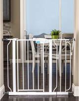 Regalo Easy Step Extra Wide White Metal Walk-Through Gate