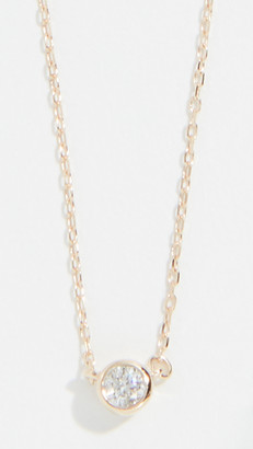 Adina 14k Gold Single Diamond Necklace