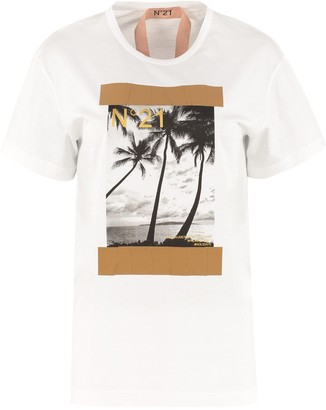 N°21 N.21 Crew-neck Cotton T-shirt