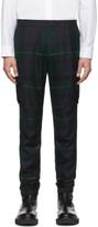 Paul Smith Black and Green Blackwatch Cargo Pants