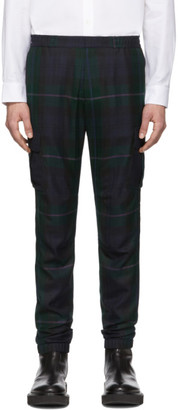 Paul Smith Black and Green Blackwatch Cargo Pants