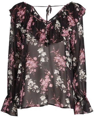 Paige Persephone Sheer Silk Blouse