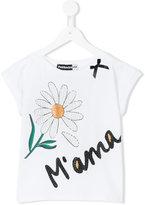 Paesaggino - studded daisy top - kids - Cotton/Spandex/Elastane - 4 yrs