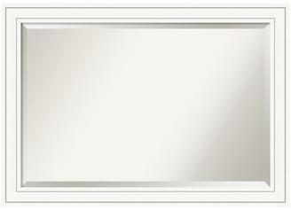 "Amanti Art Wall Mirror, Craftsman White, Outer Size 41""x29"""