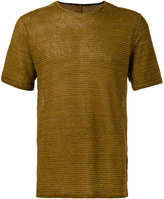 Transit - striped T-shirt - men - Linen/Flax - S