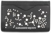 Alexander McQueen studded cardholder - men - Leather/Metal (Other) - One Size