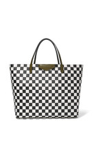 Givenchy Antigona Shopping Large Checked Textured-leather Tote - Black