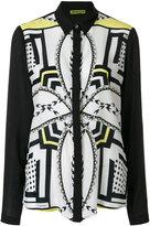 Versace printed panel shirt - women - Silk/Viscose - 38