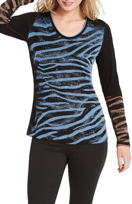 Nic+Zoe Wild Side Reversible Sweater