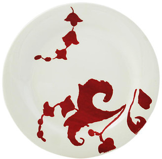 Gien Garance Canape Plate - White/Red