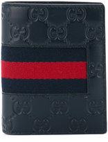 Gucci Signature Web bifold wallet - men - Cotton/Calf Leather - One Size
