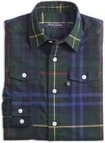 Brooks Brothers Boys' Stewart Plaid Flannel Shirt