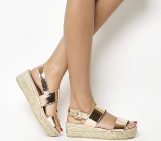 Gaimo For Office for OFFICE Ig3 Flatform Sandals Rose Gold Leather