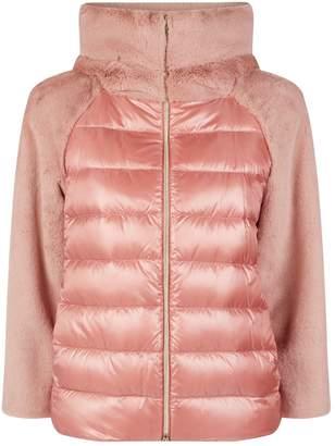 Herno Faux Fur Hooded Lightweight Jacket