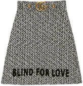 Gucci Embroidered tweed skirt