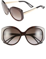 Christian Dior Women's 'Extase 1' 58Mm Oversized Sunglasses - Olive/ Rose Gold