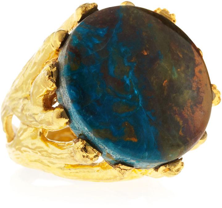 Devon Leigh Blue Opal Ring