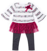 Little Lass 2-pc. Flare Long Sleeve Top Tutu Legging Set Baby Girls