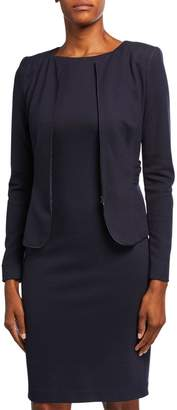 Emporio Armani Zen Dotted Jersey Ruched-Back Jacket