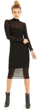 INC International Concepts Culpos X Inc Crystal-Detail Mesh Bodycon Dress, Created for Macy's