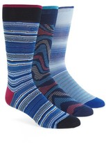 Bugatchi Men's Assorted 3-Pack Mercerized Cotton Blend Socks