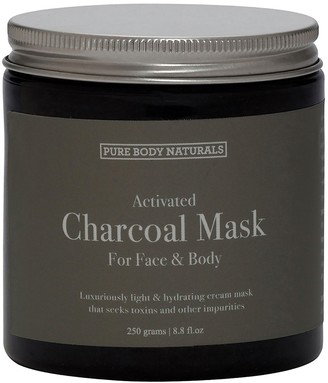 Pure Body Naturals Activated Charcoal Mud Mask for Face Body