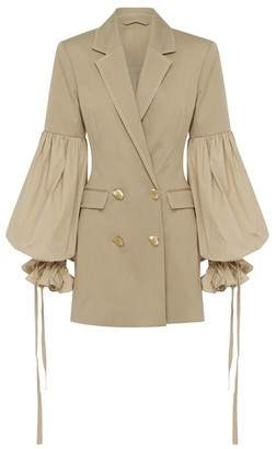 Aje Blouson-Sleeve Blazer Dress