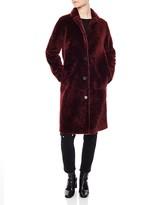 Sandro Sticky Shearling Coat