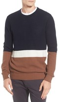 Ben Sherman Men's Textured Colorblock Sweater